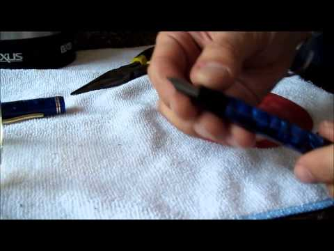 How to heat set a fountain pen feed