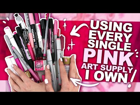 can't-'pink'-of-a-better-color?!-|-art-using-every-pink-pen,-pencil,-marker,-watercolor,-etc-i-own