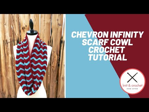 Chevron Infinity Scarf Cowl Free Pattern Workshop Youtube