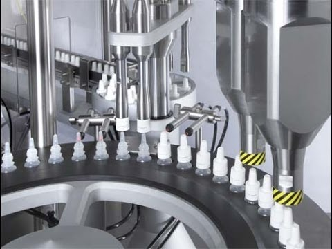 Liquid Filling Capping Machine With Automatic Caps Feeding