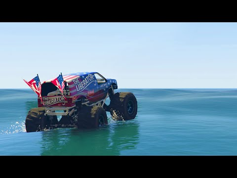 TRUCKS DRIVING ON WATER! (GTA 5 Funny Moments)