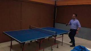 Slow mo shot table tennis