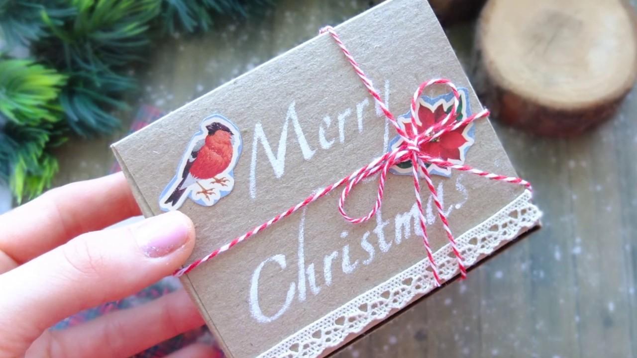 Коробочка для маленького подарка своими руками/упаковка новогоднего  подарка