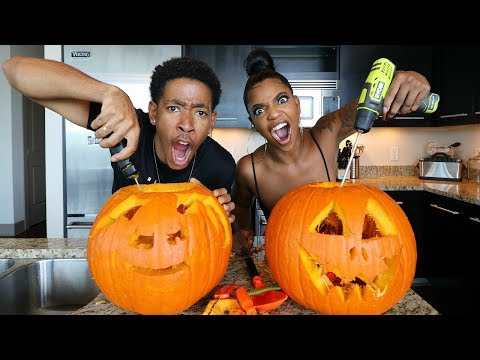 Download Youtube: INSANE BF VS. GF PUMPKIN CARVING CHALLENGE!!!!