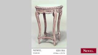 Antique French Louis XV style bleached low round end table