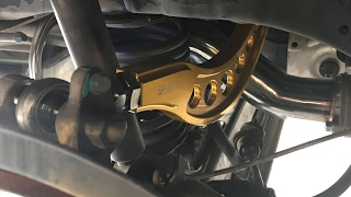 Skunk2 camber arm installation and alignment.