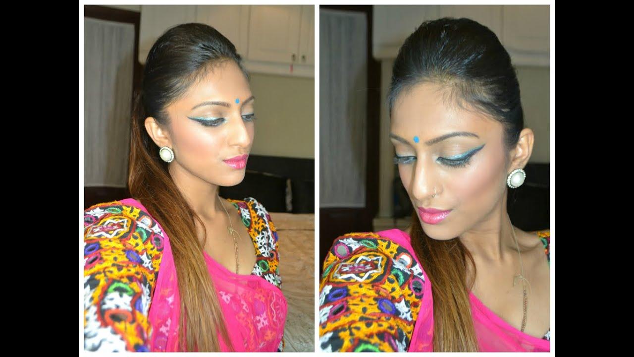 festive indian make up & hair | pony tail hack saree indian asian