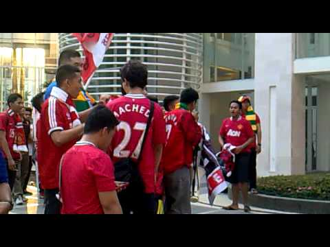 United indonesia Singing on the matchday against Liverpool