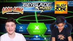 Blast Zone Kid Battles Me on the Beyblade Burst Turbo App! | Goob VS BZK pt. 2