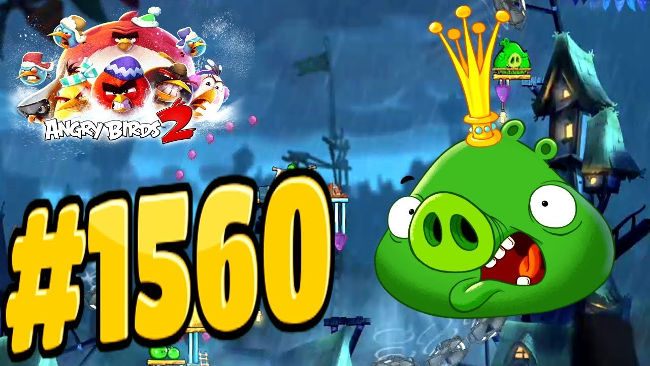 Angry birds 2 pig city pigsburgh king pig level 1560 three - Angry birds trio ...