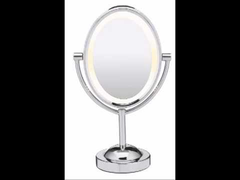 Conair Double Sided Battery Operated Lighted Makeup Mirror, Polished Chrome Finish