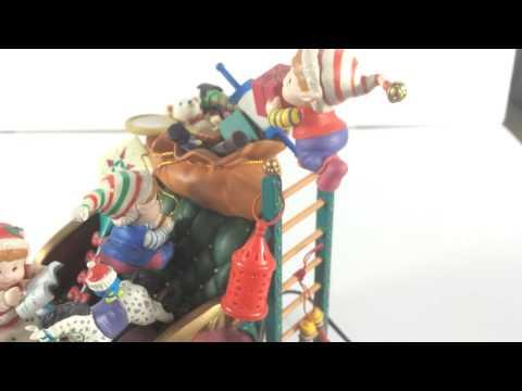 Enesco Gettin' Ready to Go Ho Ho Deluxe Action Animated Christmas FIgurine