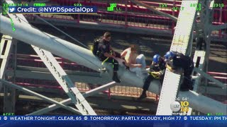 Potential Bridge Jumper Talked Down By NYPD