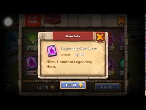Castle Clash Free Legendary Hero Card