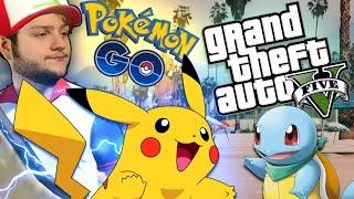 PLAYING POKEMON GO IN GTA 5! GTA 5 PC Mod Showcase - Pokemon GO Mod! (Funny Moments)