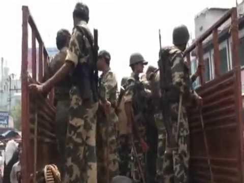Security intensified across Hyderabad, India (In Urdu)