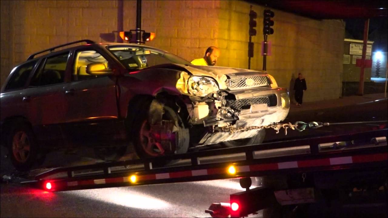 New Bedford police car accident after quad runs red light