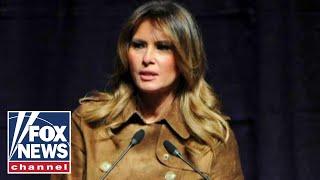Melania Trump booed at opioid awareness summit