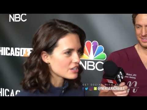 Nick Gehlfuss & Torrey DeVitto Have Fun With Nekia Nichelle On The #OneChicagoDay Red Carpet