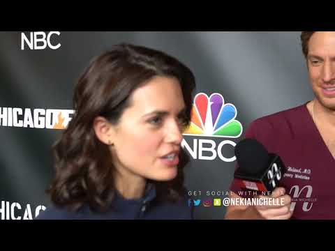 Nick Gehlfuss & Torrey DeVitto Have Fun With Nekia Nichelle On The OneChicagoDay Red Carpet