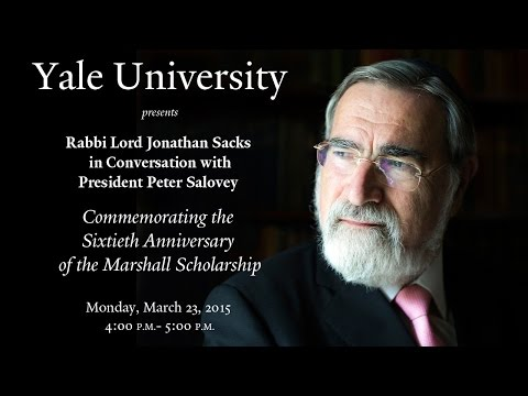 Rabbi Lord Jonathan Sacks: Commemorating the Sixtieth Anniversary of the Marshall Scholarship