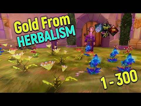 Loot from 1-300 Herbalism in Classic WoW | Herbalism Leveling Guide + Routes