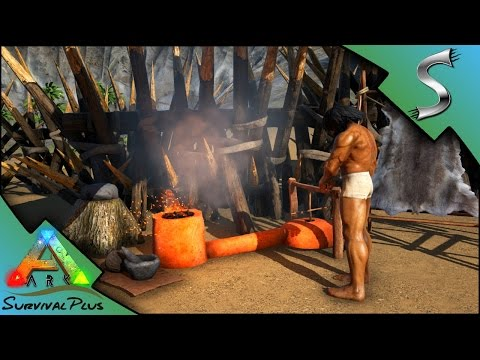SMELTING COPPER! COPPER TOOLS & WEAPONS - Ark: Survival Plus [Gameplay E5]