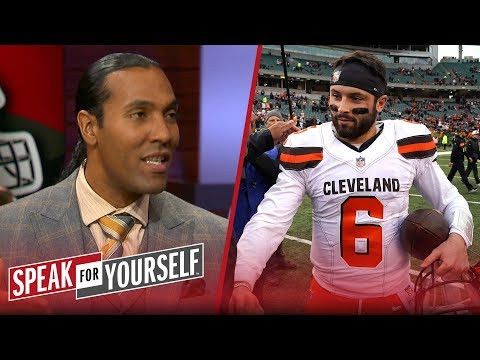 T.J. Houshmandzadeh talks the feud between Baker Mayfield and Hue Jackson   NFL   SPEAK FOR YOURSELF