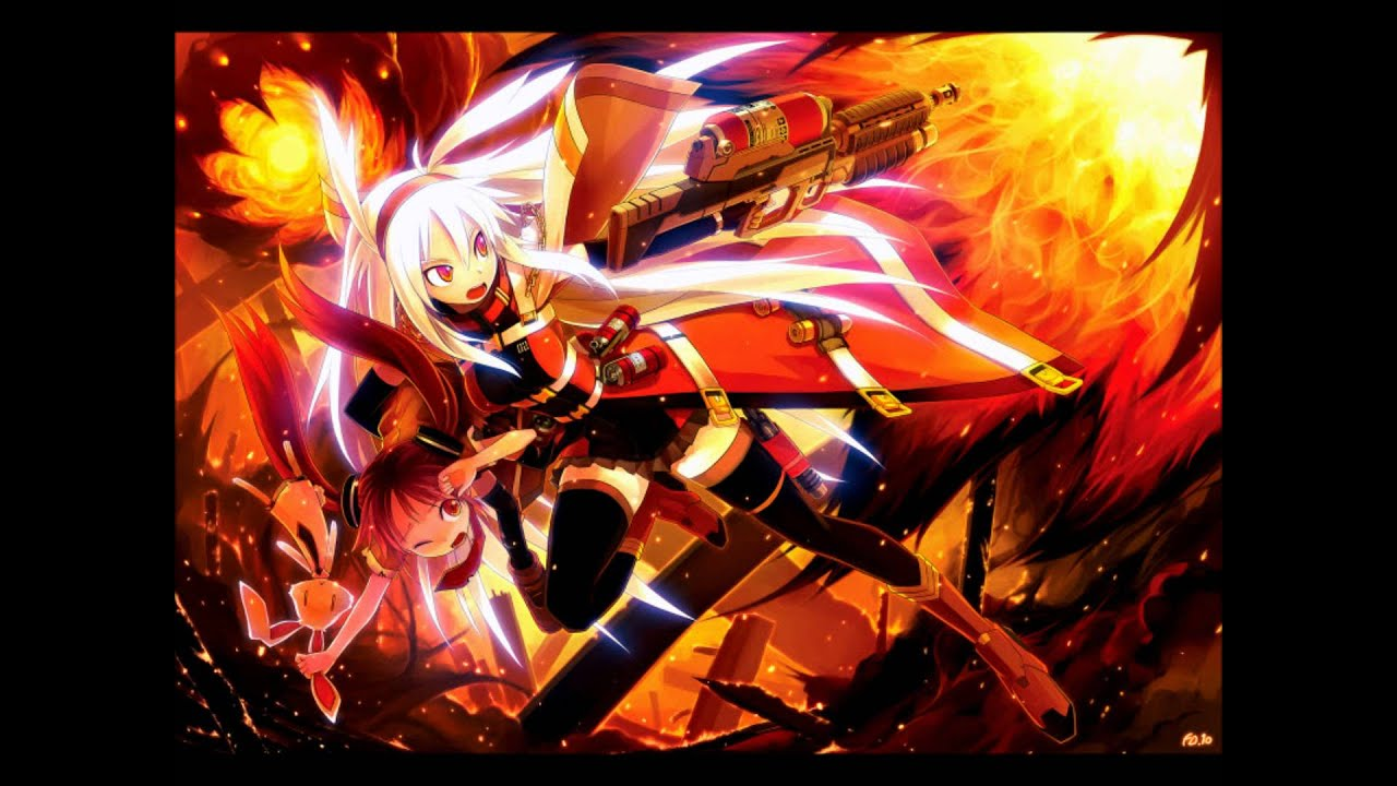 Nightcore through the fire and flames youtube - Anime girls with fire ...