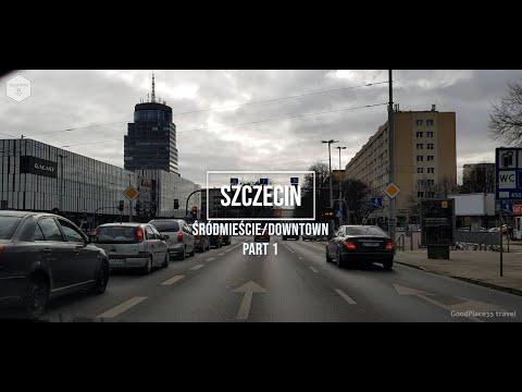 Driving Downtown Szczecin - Part 1, Poland | March 2021