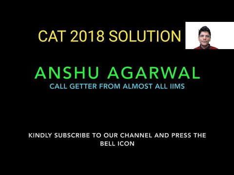 CAT SOLVED QUESTION PAPER | CAT 2018 SLOT 1