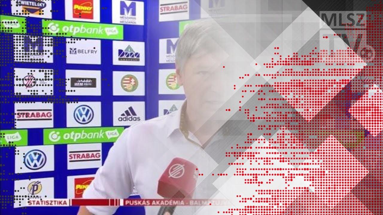 Edzői értékelések a Puskás Akadémia FC - Balmaz Kamilla Gyógyfürdő mérkőzésen