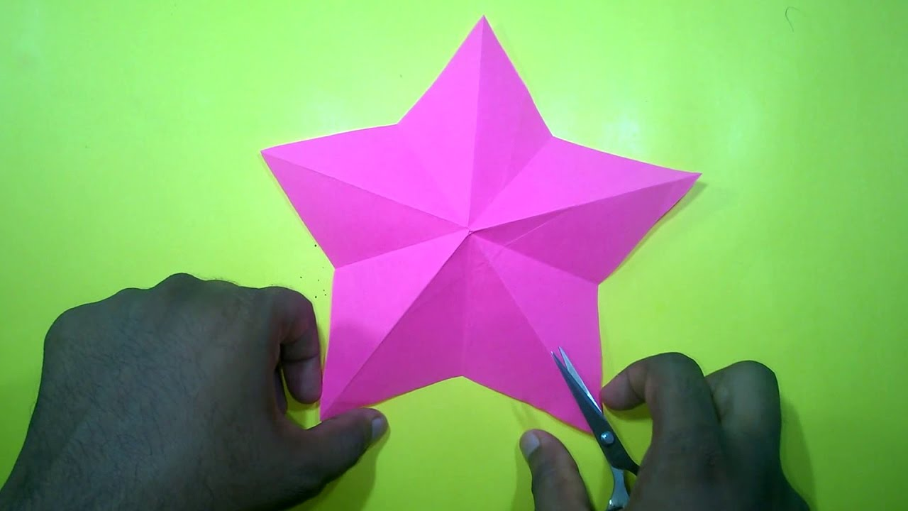 How to make a christmas star with one cut only easy for Christmas star craft ideas