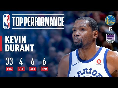 Kevin Durant Drops 33 pts vs The Kings