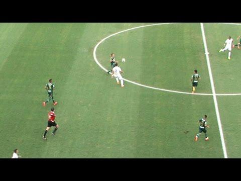 Renato dá um lindo chapéu em Valdivia | Santos 2 x 1 Palmeiras | Paulistão 2015