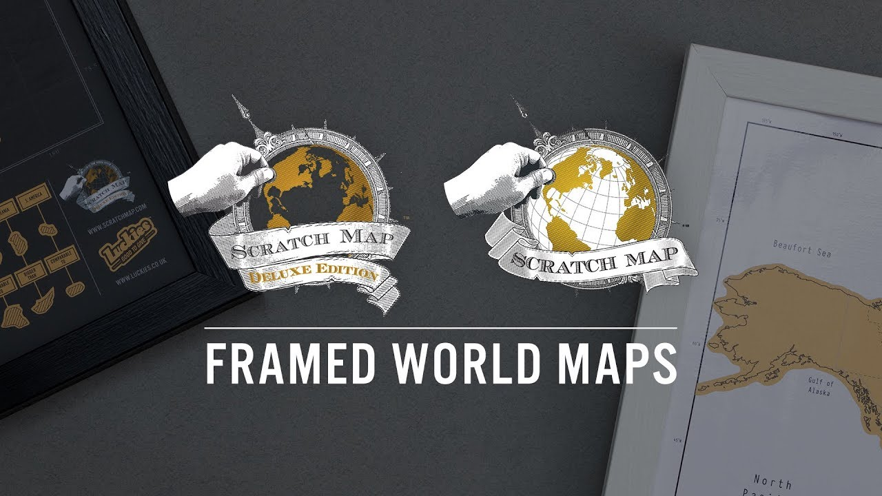 Framed Scratch Map By Luckies Of London YouTube - Framed scratch world map