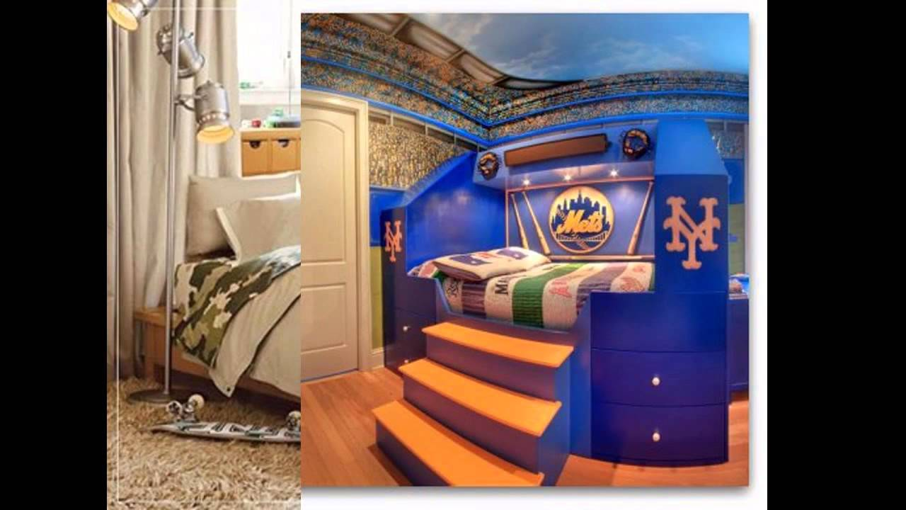 Cool Baseball bedroom decorating ideas   YouTube. Baseball Bedroom. Home Design Ideas