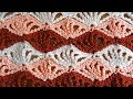 Quadruple Shells Crochet Stitch - Right Handed Crochet Tutorial