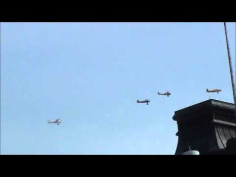 Vintage Warbirds Fly-by over Parliament Hill (Ottawa)