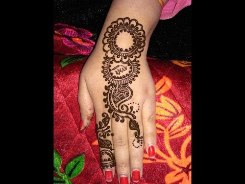 Simple Beautiful Heena Arabic Mehndi Designs For Back Hands 2017 Step By Step