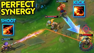 THE POWER OF PERḞECT TEAMWORK - 200 IQ Combos - League of Legends