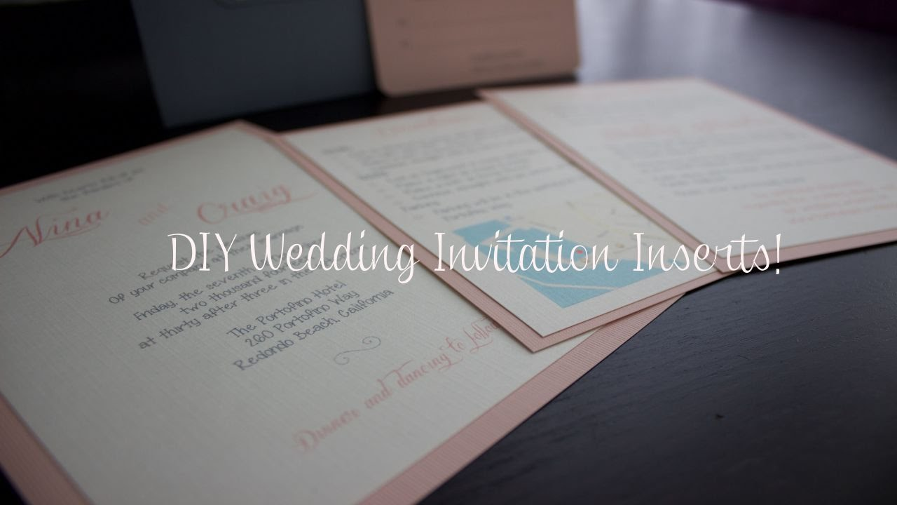Inserts For Wedding Invitations: DIY Wedding Invitation Inserts