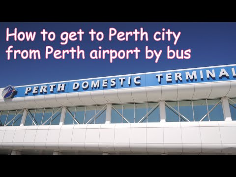 How to go to Perth city centre from Perth International Airport by bus