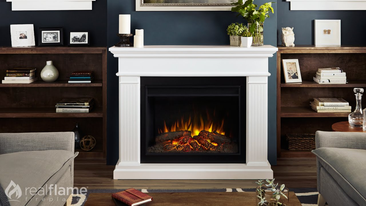 Real Flame - Kennedy Grand Series Electric Fireplace - YouTube