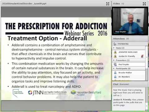 Stimulant Use Disorder The Prescription For Addiction Webinar Series