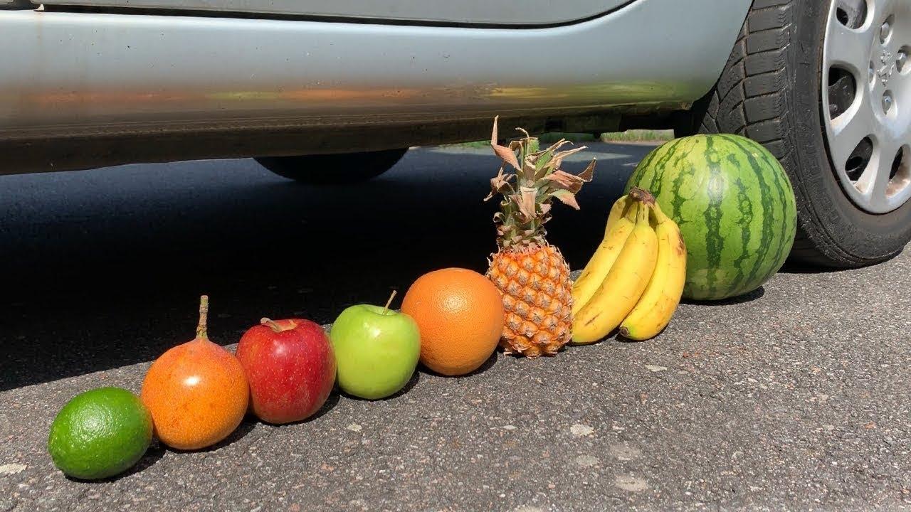 Nghiền nát tất cả trái cây bằng oto – nghiền nát mọi thứ bằng xe hơi
