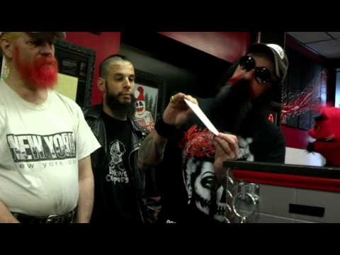 FoReelzibub : Devil Puppet interviews THE MURDER JUNKIES at ALMIGHTY STUDIOS - JAMESTOWN NY
