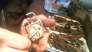 видео как отрегулировать карбюратор бензопилы урал