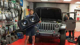 Installing JL Subwoofers In My Jeep