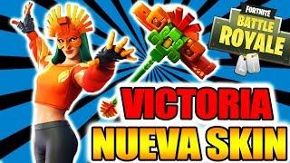 VICTORIA WITH NEW SKIN *AVE SOLAR* - FORTNITE